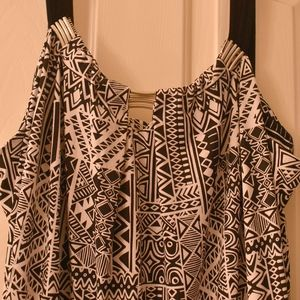Metaphor Black and White Patterned Maxi Dress